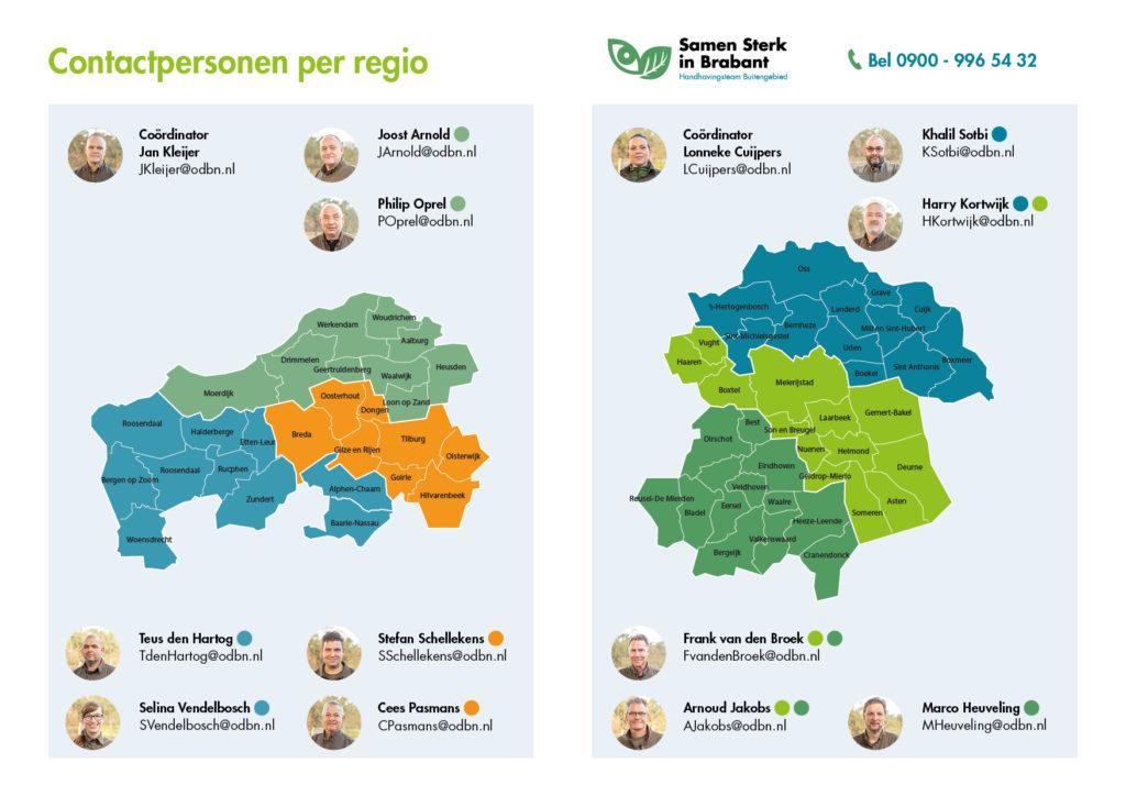 Contactpersonen regio